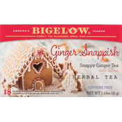 Bigelow Herbal Tea, Ginger Snappish, Caffeine Free, Tea Bags