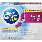Alka-Seltzer Plus Maximum Strength Cold & Cough Liquid Gels Cold & Cough Medicine