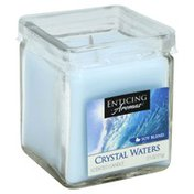 Enticing Aromas Scented Candle, Crystal Water, Soy Blend