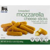 Food Lion Cheese Sticks, Mozzarella, Breaded, Box
