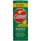 Comet Powder Cleanser, Lemon Fresh, with Bleach