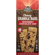 First Street Granola Bars, Semisweet Chocolate Chip, Chewy