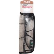 Clear Readers Eyeglasses, +1.50