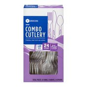 Southeastern Grocers Premium, Clear & Full Size Combo Cutlery - 24 CT