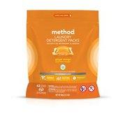 Method Laundry Detergent Packs, Ginger Mango