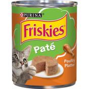 Purina Friskies Pate Wet Cat Food, Poultry Platter