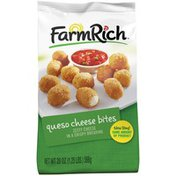 Farm Rich Zesty Cheese in a Crispy Breading Queso Cheese Bites