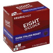 Eight O'Clock Coffee Coffee, Dark Roast, Dark Italian Roast, K-Cup Pods