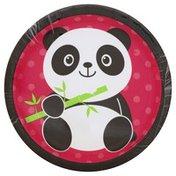 Party Creations Plates, Premium Strength, Panda-Monium, 6-7/8 Inch