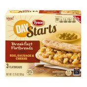 Tyson Day Starts Breakfast Flatbreads Egg, Sausage & Cheese - 3 CT