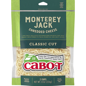 Cabot Shredded Cheese, Monterey Jack, Classic Cut