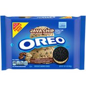 Oreo Java Chip Flavored Creme Chocolate Sandwich Cookies, Family Size.