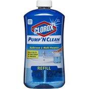Clorox Pump 'N Clean Bathroom & Multi-Purpose Refill Clean Rain