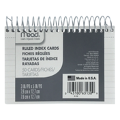 Mead Ruled Index Cards 50 Cards