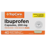 TopCare Ibuprofen 200 Mg Pain Reliever/Fever Reducer (Nsaid) Softgels