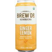 Brew Dr. Kombucha Kombucha, Organic, Ginger Lemon