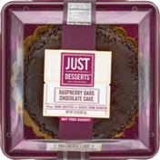 Just Desserts Cake Raspberry Dark Chocolate, Sleeve