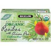 Bigelow Organic Red Rooibos w/Asian Pear Tea 1.28 Oz Organic Tea Bags