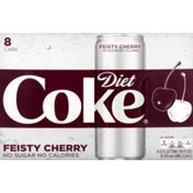 Diet Coke Cola, Feisty Cherry Flavored, Diet