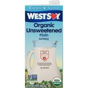 WestSoy Organic Unsweetened Plain Soy Milk
