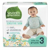 Seventh Generation Baby Diapers With Animal Prints Size 3, 16-28 Lbs