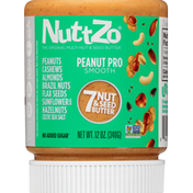 NuttZo 7 Nut & Seed Butter, Peanut Pro, Smooth