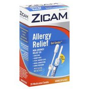 Zicam Allergy Relief, with Cooling Menthol, Medicated Swabs