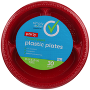 Simply Done Party Compartment Plastic Plates