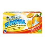 Capri Sun Sunrise Orange Wake Up Juice Pouches - 10 PK