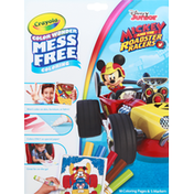 Crayola Coloring Pages & Markers, Mess Free Coloring, Mickey and the Roadster Racers, 3+