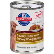 Hill's Science Diet Savory Stew with Turkey & Vegetables Premium Adult Canned Dog Food