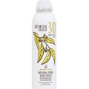 Australian Gold Sunscreen, Botanical, Natural Spray, Broad Spectrum SPF 30