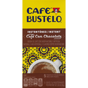 Café Bustelo Coffee Beverage Mix, Instant, Cafe Con Chocolate, Single Serve Packets