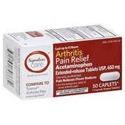 Signature Care Arthritis Pain Acetaminophen 650 Mg Pain Reliever / Fever Reducer Extended-release Tablets