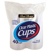 Best Choice 9 Ounce Clear Plastic Cups