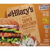 Hilary's Veggie Burgers, Grain Free, Super Cauliflower