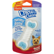Hartz Chew'n Clean Twisty Bone Bacon Scented Extra Small, Blister Pack