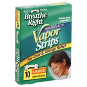 Breathe Right Vapor Strips, Mentholated, Large