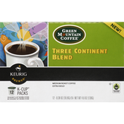 Green Mountain Coffee, Medium Roast, Extra Bold, Three Continent Blend, K-Cup Packs