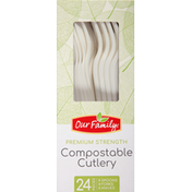 Our Family Cutlery, Compostable, Premium Strength