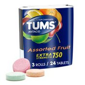 Tums Antacid Chewable Extra Strength Tablets, Antacid Chewable Extra Strength Tablets