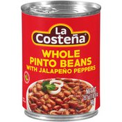 La Costeña Whole Pinto Beans with Jalapeno Peppers