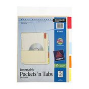 Avery Insertable Pockets 'n Tabs Dividers - 5 Tab
