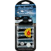 Refresh Your Car Auto Vent Sticks, Lightning Bolt, Ice Storm, 6 Pack