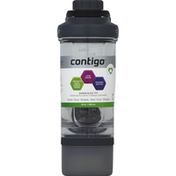 Contigo Mixer Bottle, with Storage Container, Clear with Black, 22 Ounce