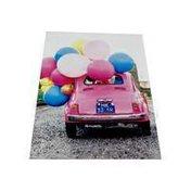 Avanti Balloons On Pink Car Deluxe Matte Blank Card