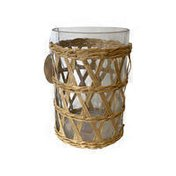 Debi Lilly Small Woven Glass Cylinder