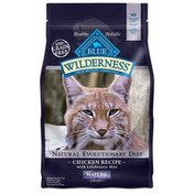 Blue Buffalo 100% Grain Free Mature Natural Food for Cats Wilderness Natural Evolutionary Diet Chicken Recipe With Lifesource Bits