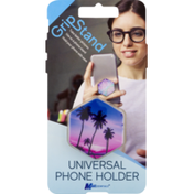 MobilEssentials Grip Stand Phone Holder, Palm Trees, Universal, Blister Pack
