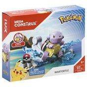 Mega Construx Toy, Pokemon, Wartortle